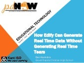 How Edify can Generate Real Time Data Without Generating Real Time Tears