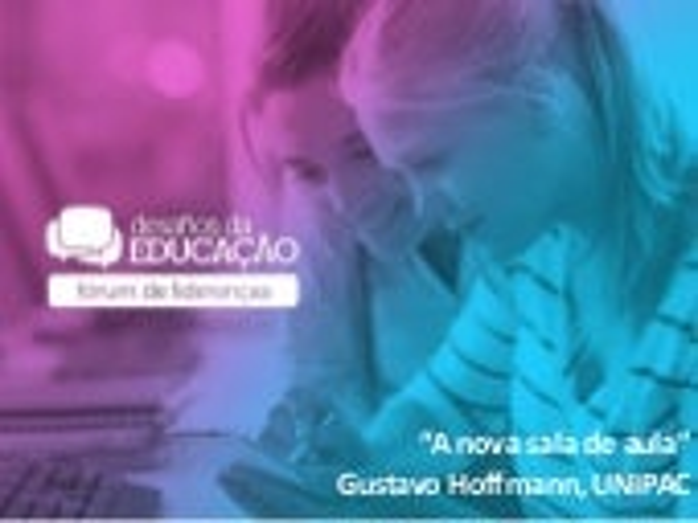 """A nova sala de aula"", por Gustavo Hoffmann - UNIPAC"