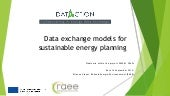Data exchange models for sustainable energy planning