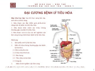 CÁC BỆNH TIÊU HÓA & THUỐC