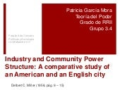 Industry and community power UCM Power Theory