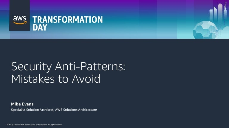 Security Anti-Patterns: Mistakes to Avoid
