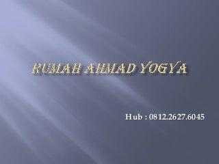 Jual Rumah Yogya, Ada Taman Tanpa Perantara, Samping Jalan Raya, Ahmad +62 812-2627-6045