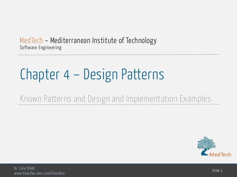 Software Engineering Chp4 Design Patterns