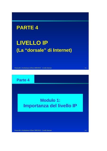 4 Livello Ip Parte1 Color