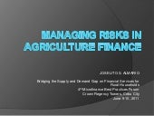 4   managing risks in agriculture finance by mr. almario
