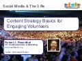 Robert Rosenthal - Social Media & the 3 Rs: Content Strategy Basics for Engaging Volunteers