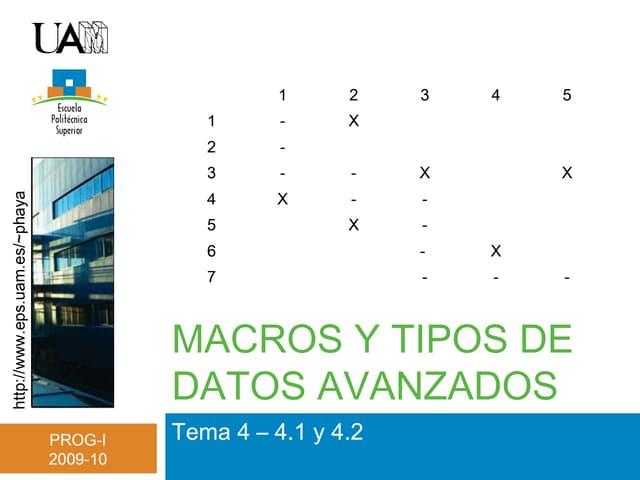 Tema 4 - Tipos datos avanzados (I)