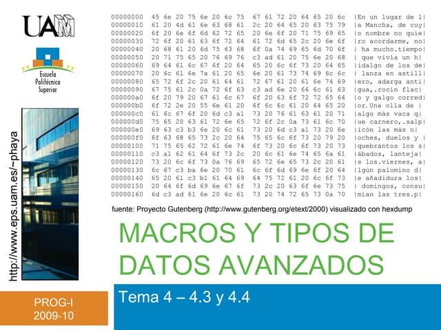 Tema 4 - Tipos datos avanzados (II)