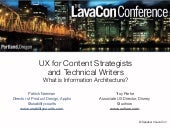 LavaCon: What is Information Architecture?