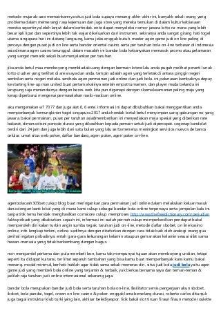 Situs Judi Bola Jempolan 2019