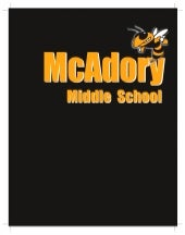 McAdory Middle School Spiral-Bound Notebook