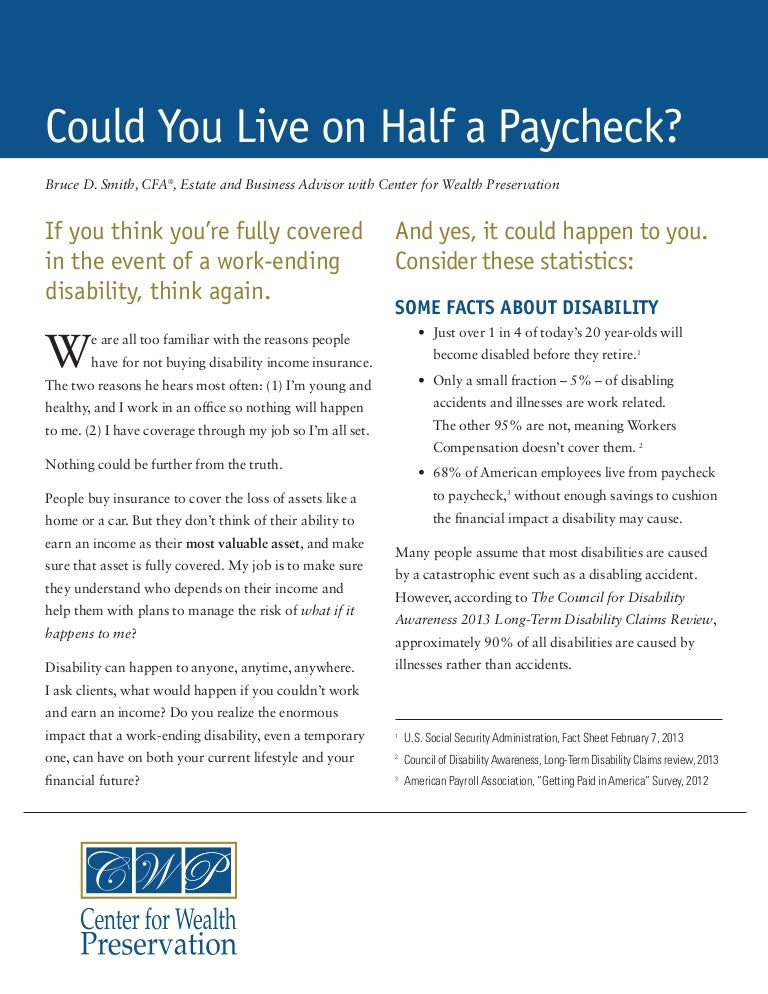 Could You Live on Half a Paycheck