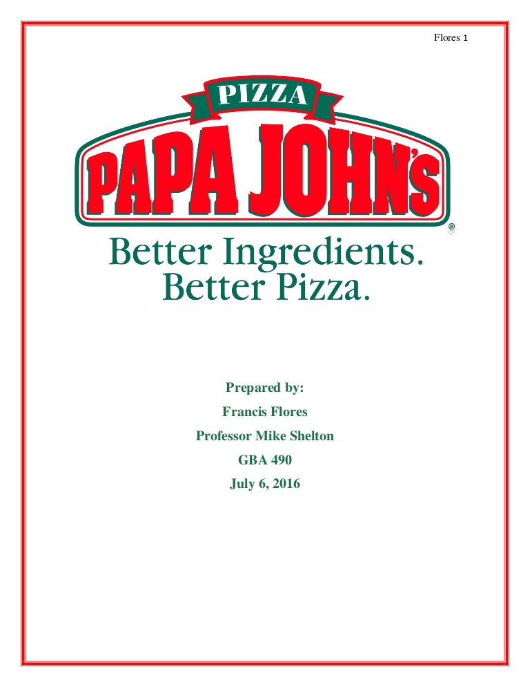 papa johns competitive strategy