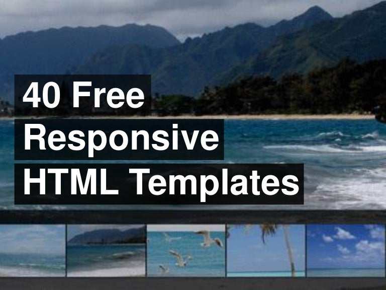 40 Free Responsive Html Templates