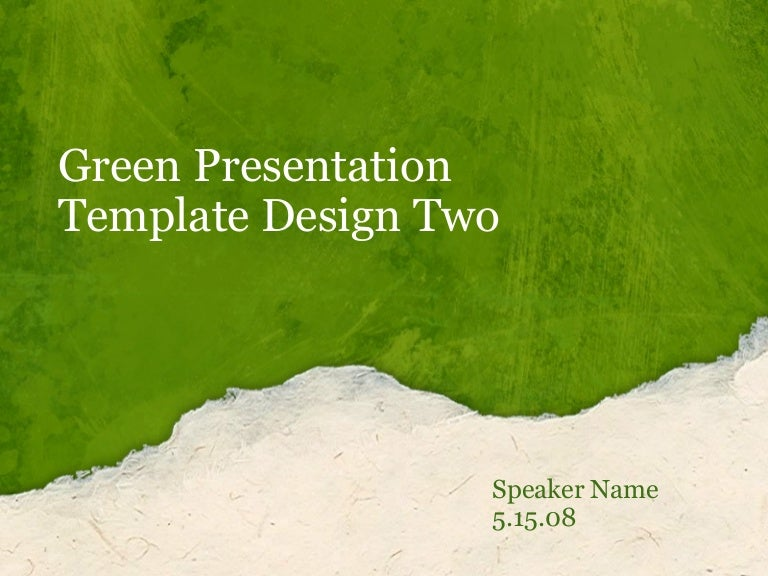 green-presentation-template