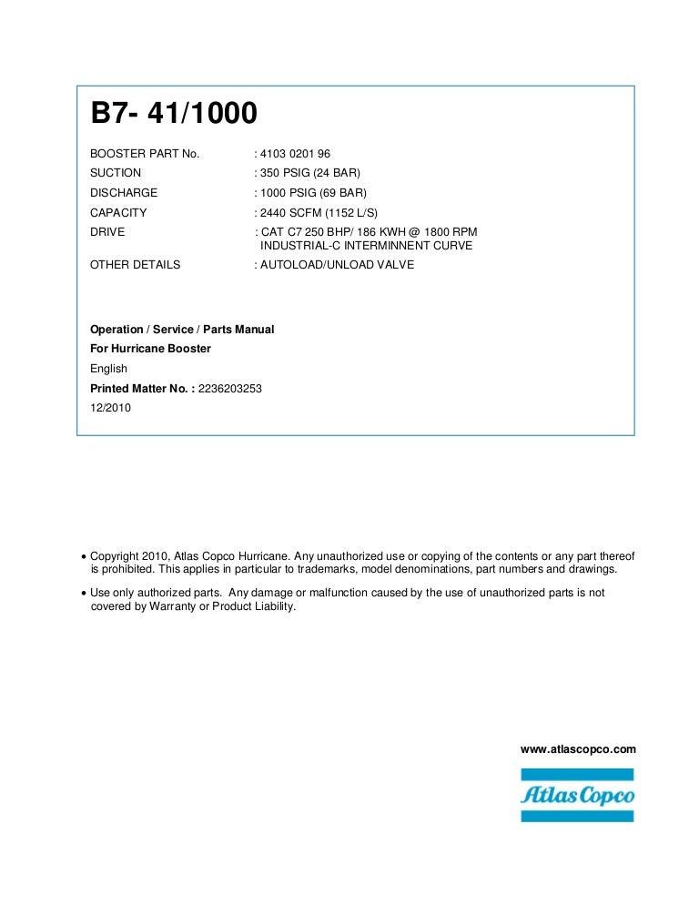 atlas copco wiring schematic 4103 0201 96 b7 41 1000 manual  4103 0201 96 b7 41 1000 manual