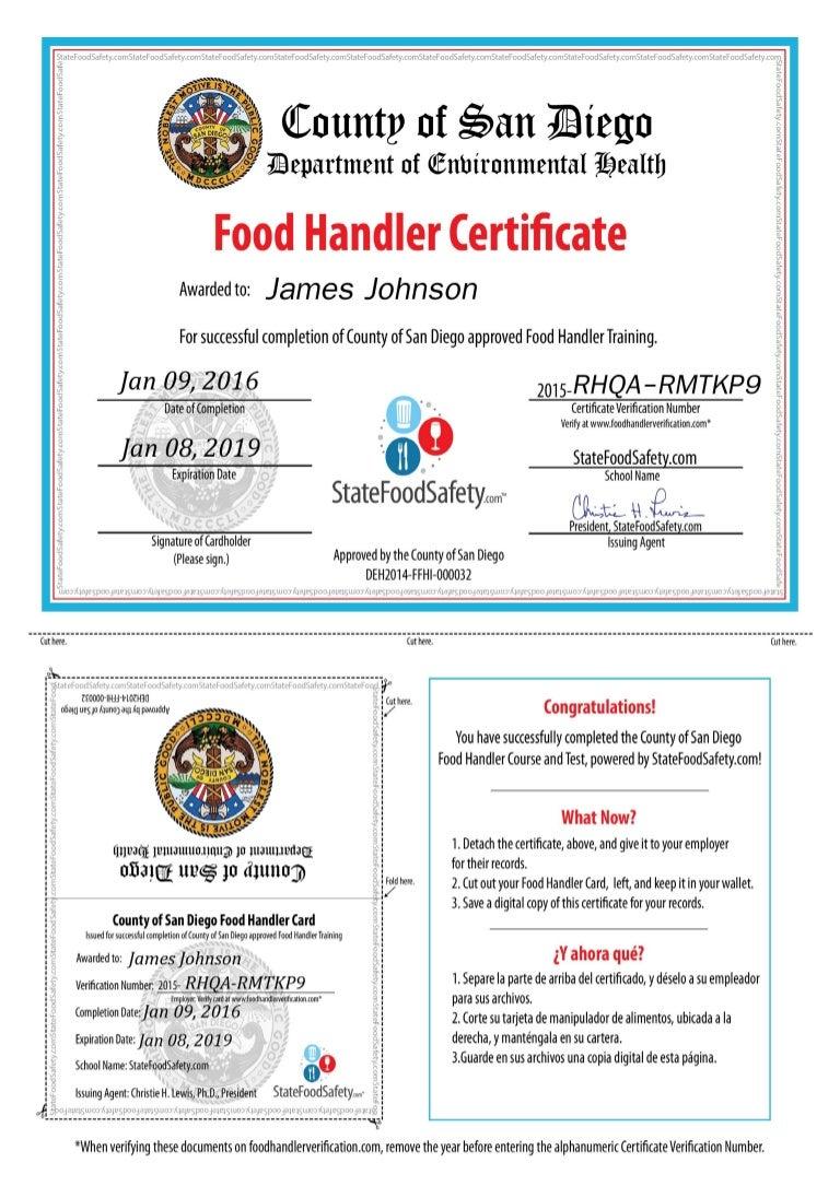 Food handler card xflitez Gallery