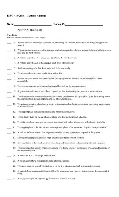 415 Quiz1 Answers