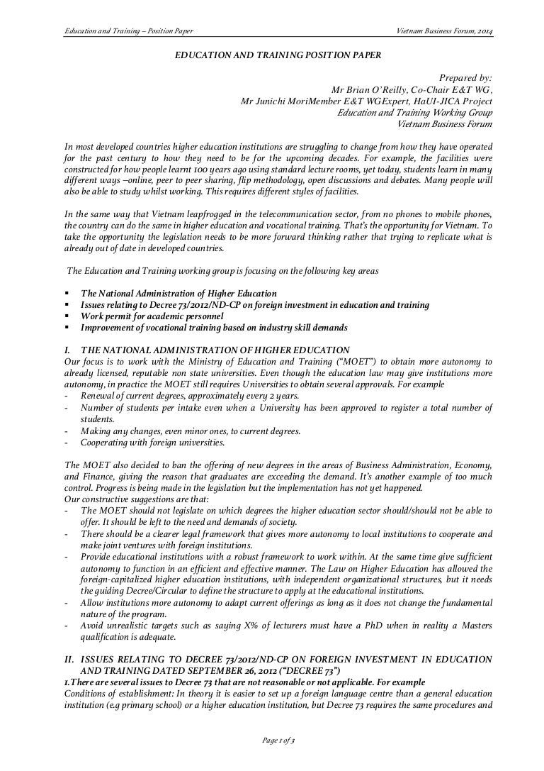 vbf education and training wg position paper 1214 eng final