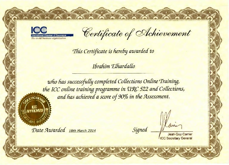 icc certificates certificate chamber commerce hereby slideshare