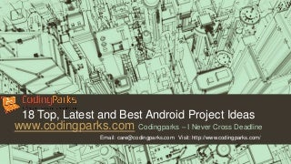 41 Latest, top and best android project ideas for final year students - Codingparks.com