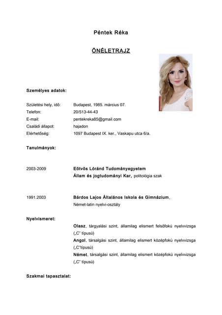rendezvényszervező önéletrajz minta CV   Klausz Melinda rendezvényszervező önéletrajz minta