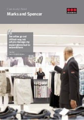 aspencer case study 1 Marks and spencer (m&s) is a british based company that focuses producing good-quality products under a well-known brand at affordable prices they are a broad retailer offering clothing for all genders and ages, houseware items, food, and other items under various brands.