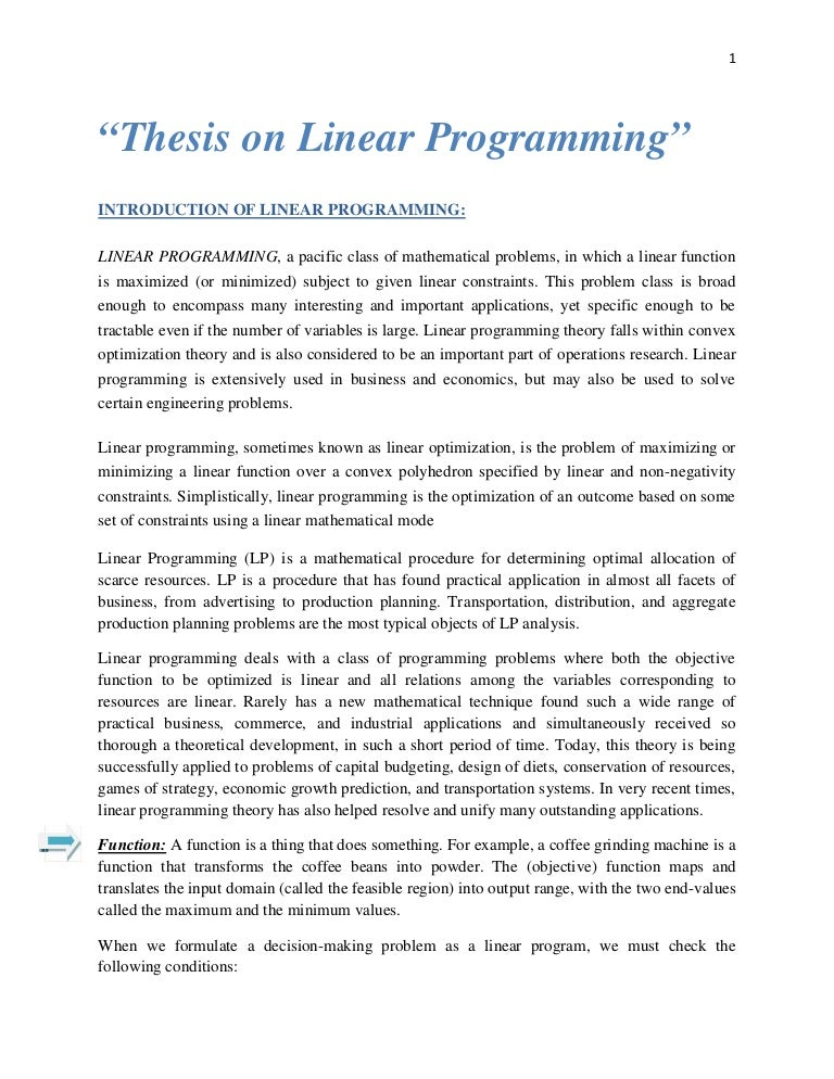 Thesis linear foundation degree essays