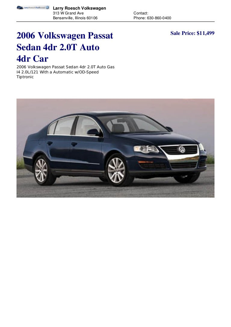 Volkswagen Passat Owners Manual 2004