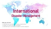 International disaster management