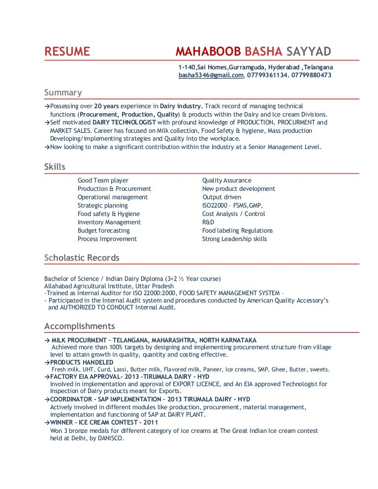 Dairy Queen Resume
