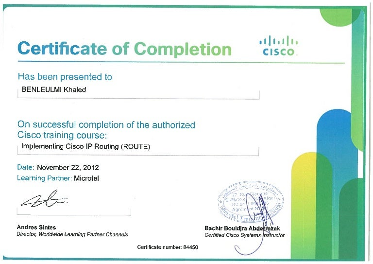 Certificate _ Implementing Cisco IP Routing (ROUTE) _