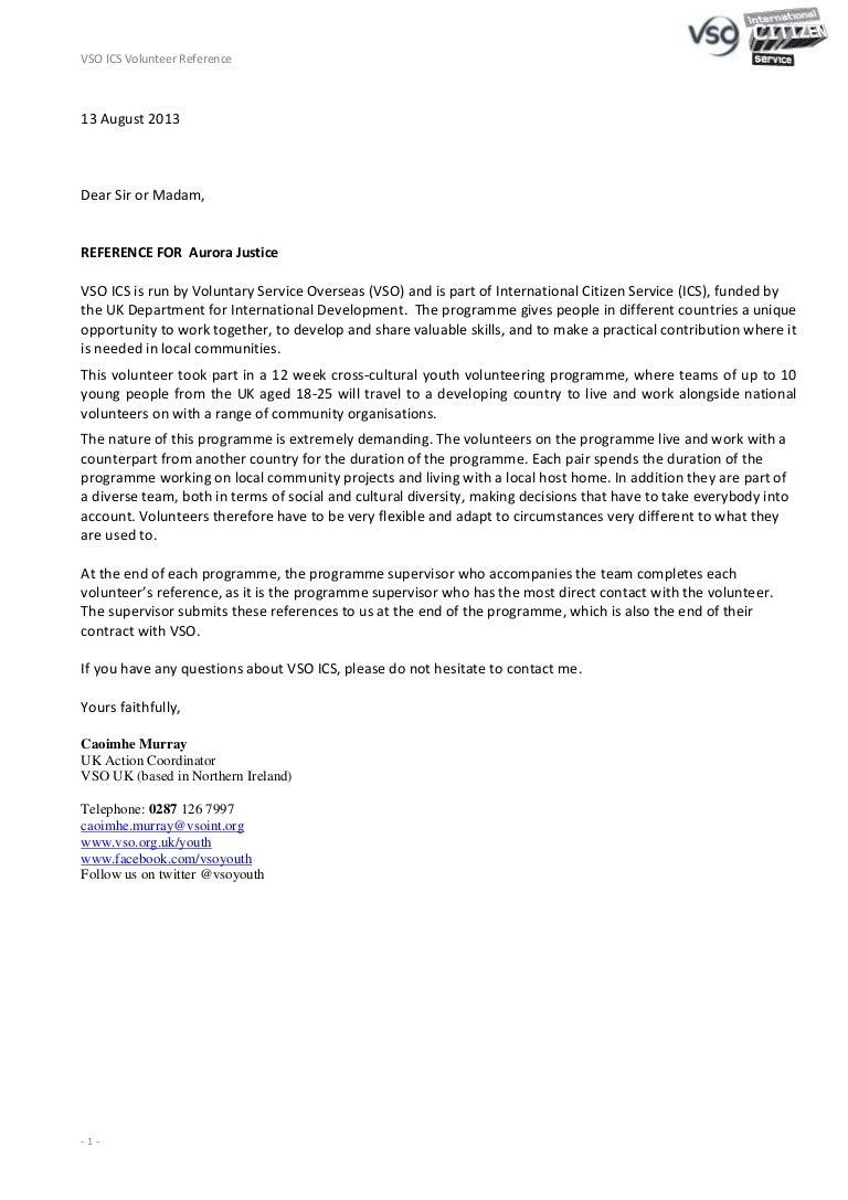 Volunteer Reference Letter Examples from cdn.slidesharecdn.com