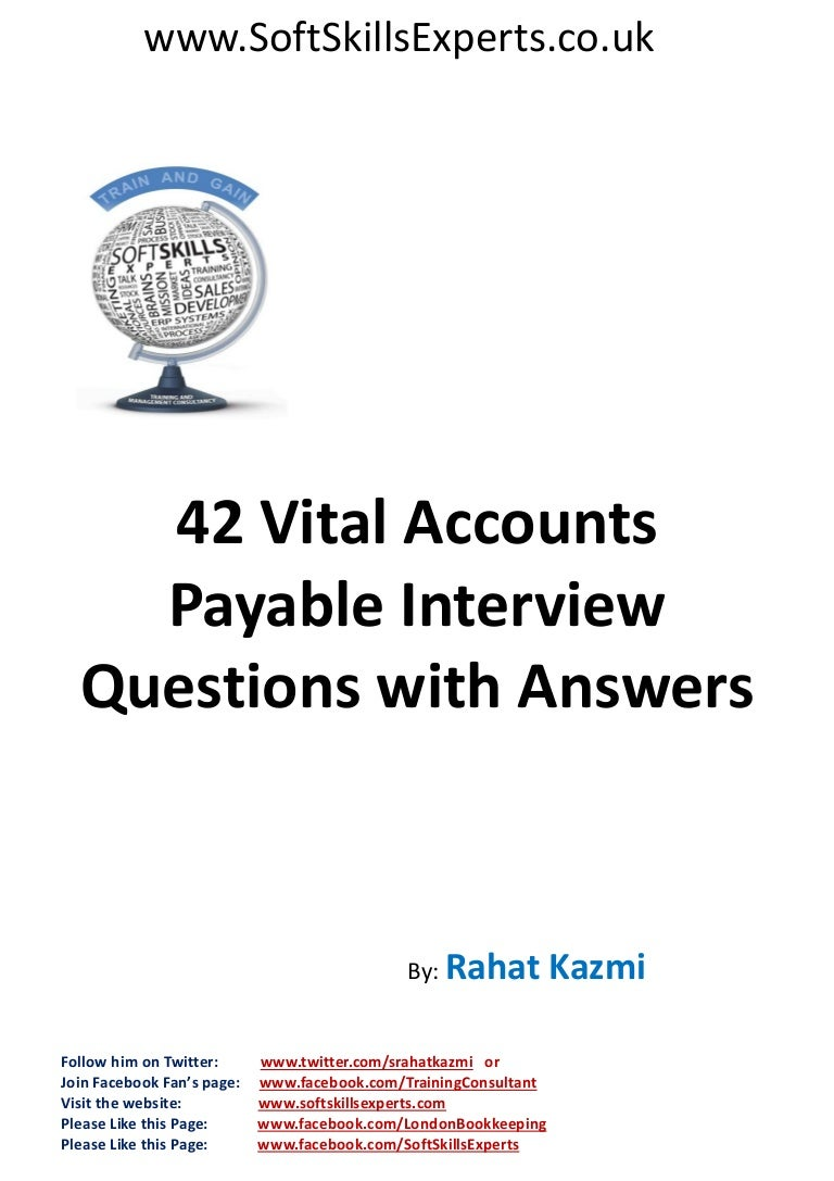 accounts payable interview questions and answers