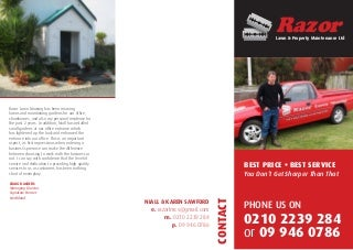 Razor Lawn & Property Maintenance Ltd Brochure 2015