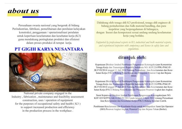 Brochure company profile pt gigih karya nusantara 2 ccuart Images