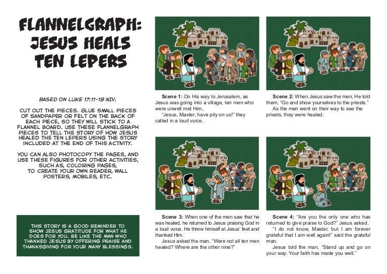 Jesus Heals Ten Men with Leprosy (Luke 17:11-19) coloring page ... | 544x768
