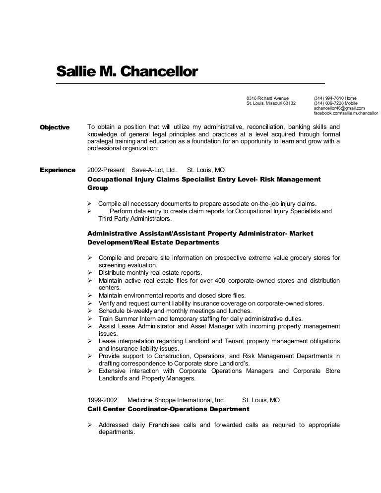 Sallie RESUME01 Revised 20100920