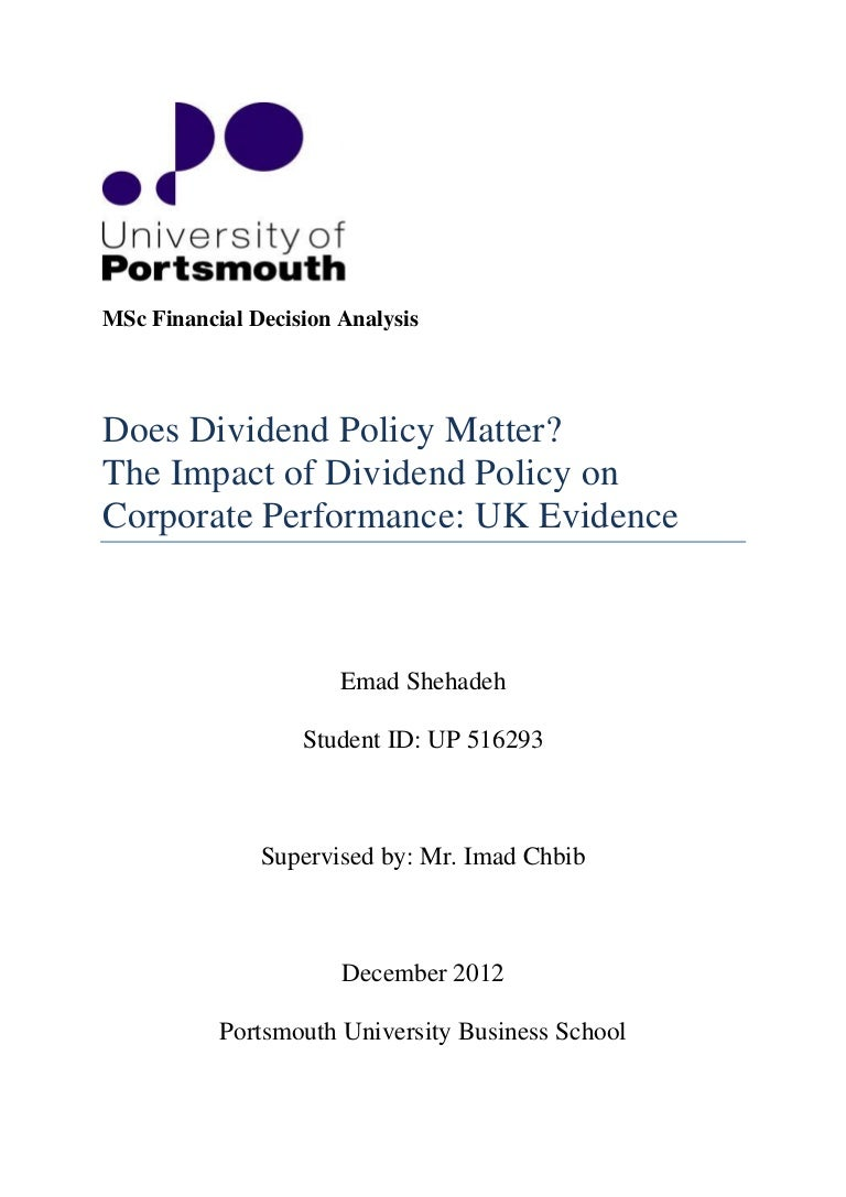 Dividend policy of the enterprise and the conditions of existence of modern joint-stock companies 5