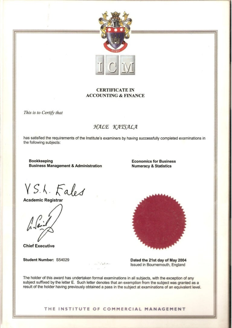 Icm accounting and finance certificate 1betcityfo Image collections