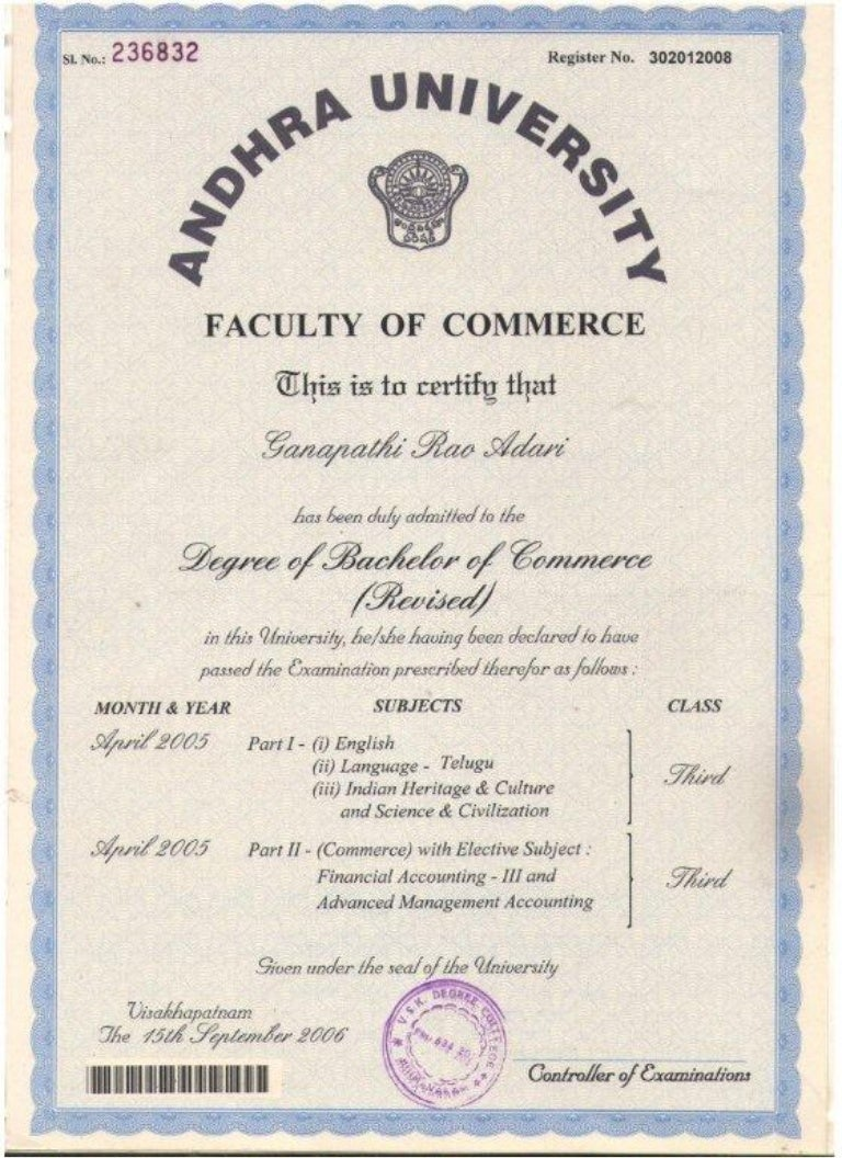 Sample bcom degree certificate images certificate design and sample bcom degree certificate thank you for visiting yadclub nowadays were excited to declare that we have discovered an incredibly interesting topic to yadclub Choice Image