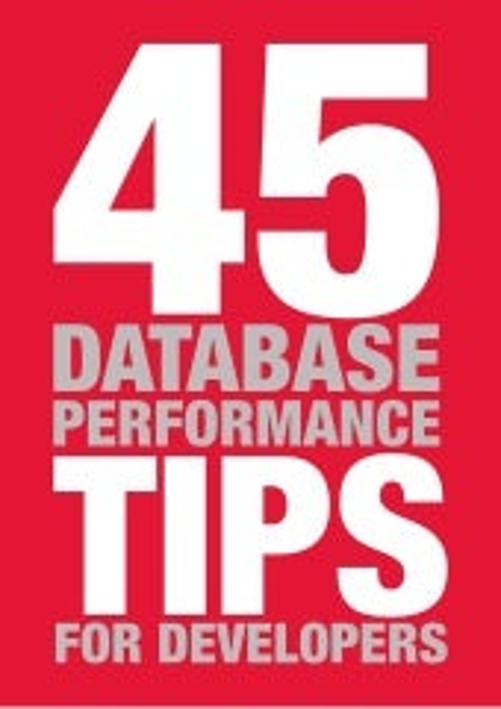 Tips for Database Performance