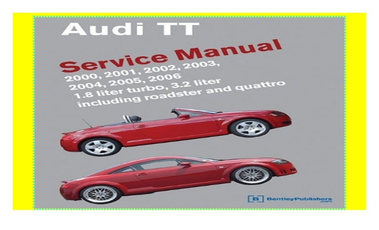 Anleitungen & Handbcher Service & Reparaturanleitungen Audi TT ...