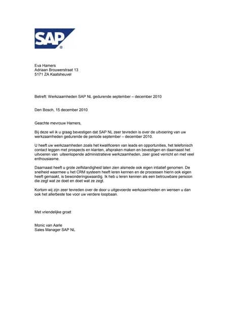 Referentiebrief SAP