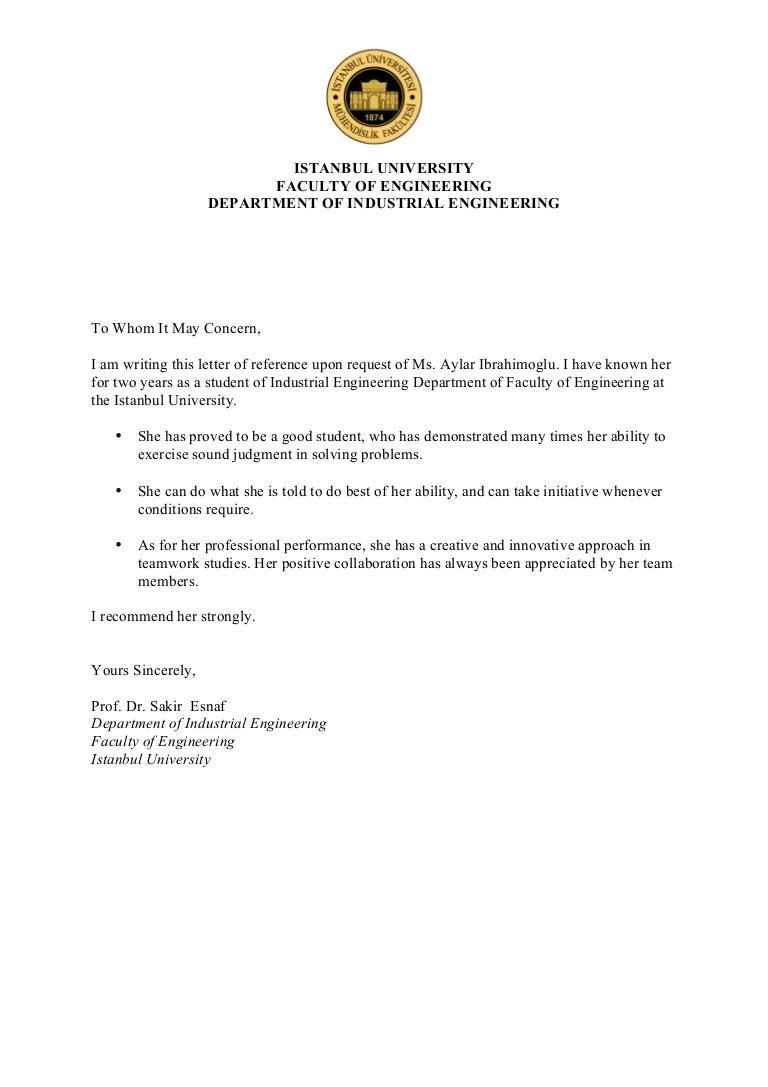 reference letter aylar ibrahimoglu