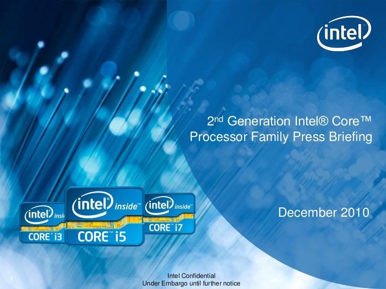 Intel Core second generation Sandy Bridge new models and specificatio…