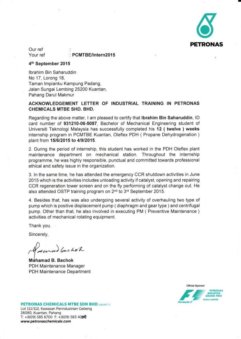 Formal Offer Letter