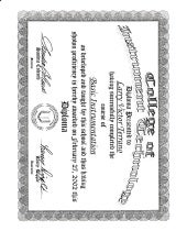 Certificate and diploma templates