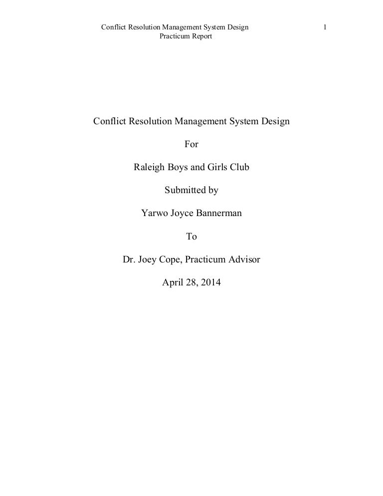 conflict resolution management system design for printing